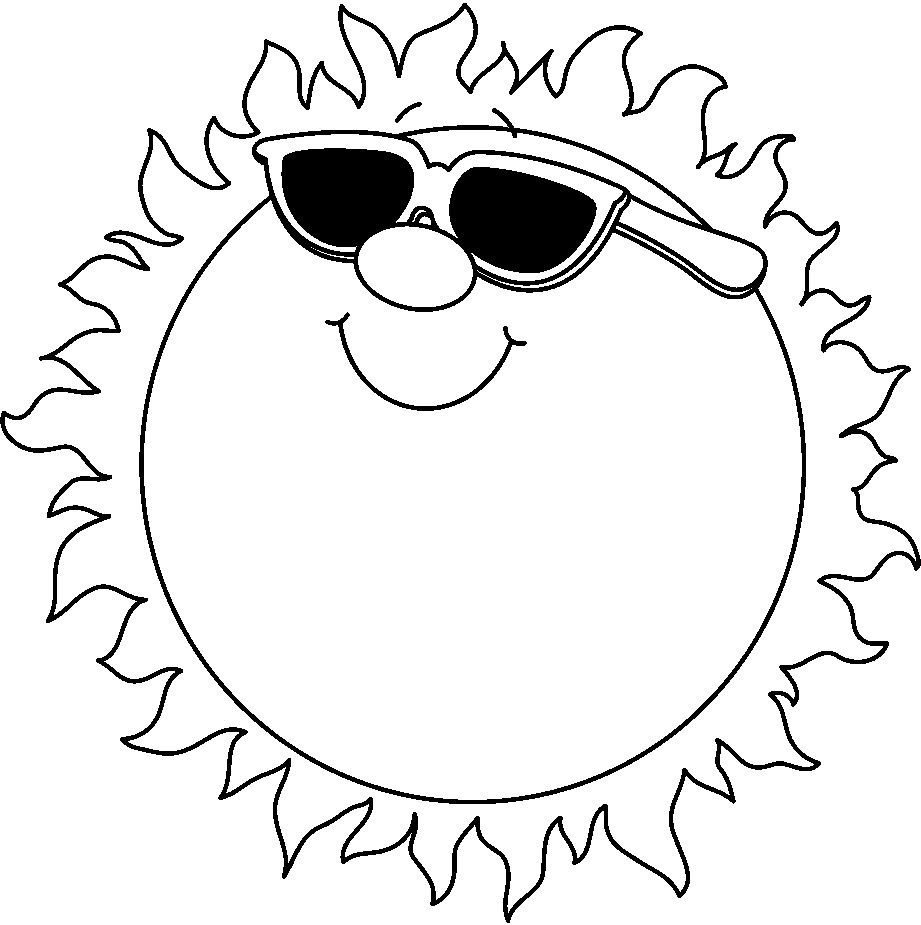 921x925 Free Black And White Clip Art Summer