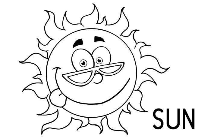 720x460 Sun Happyface Coloring Pages Happy Sun Colouring Pages