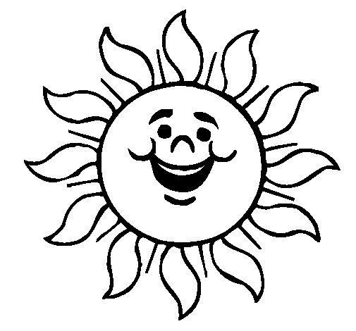 505x470 Colored Page Happy Sun Painted By M