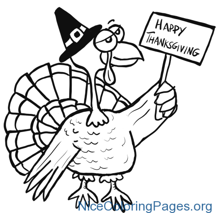 444x434 Happy Thanksgiving Drawing Nice Coloring Pages For Kids