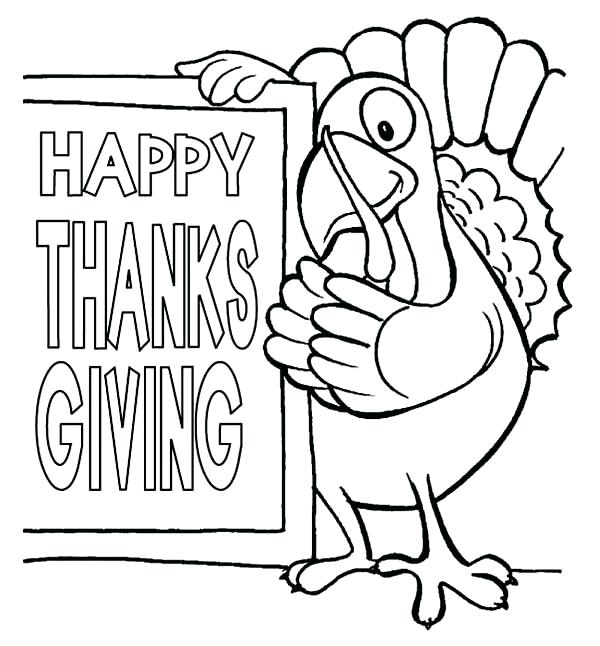 600x646 Happy Thanksgiving Color Pages Best Coloring Pages
