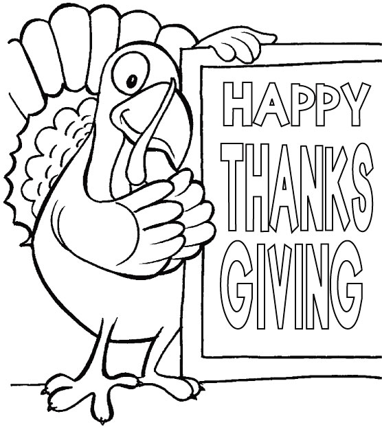 556x622 Happy Thanksgiving Sign To Color Thanksgiving Coloring Page 7