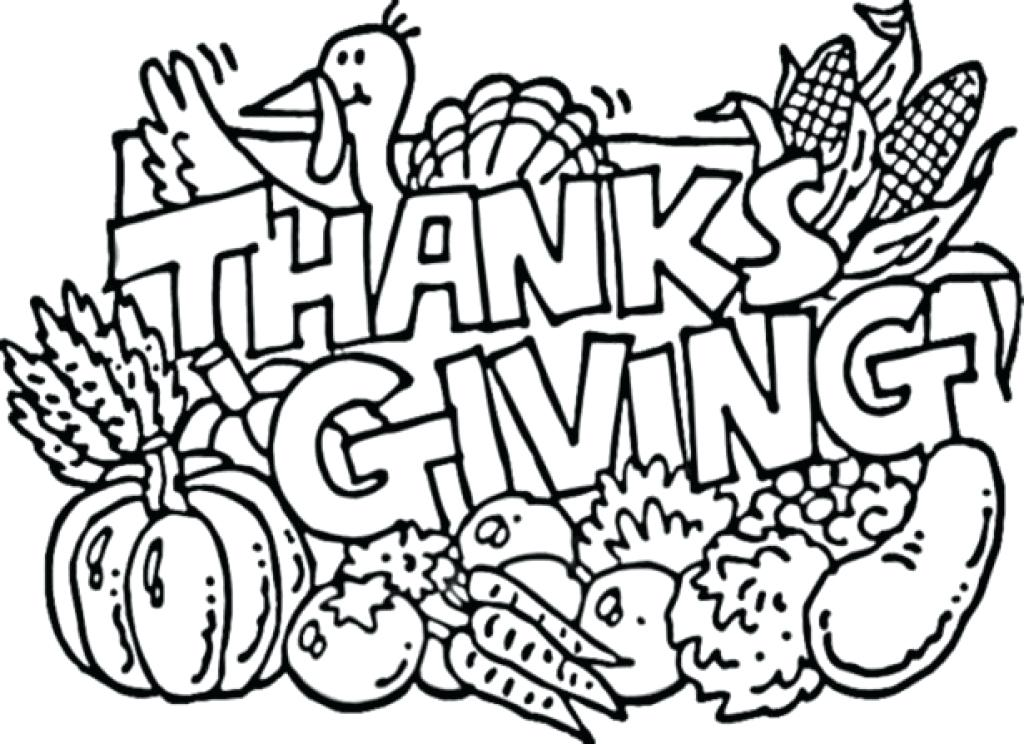1024x744 Thanksgiving Printable Coloring Pages