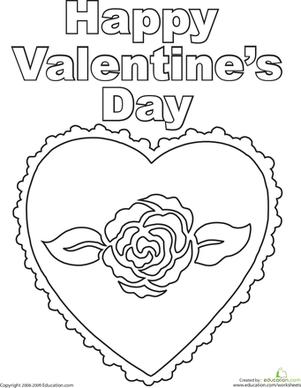 301x388 Happy Valentine's Day Worksheet
