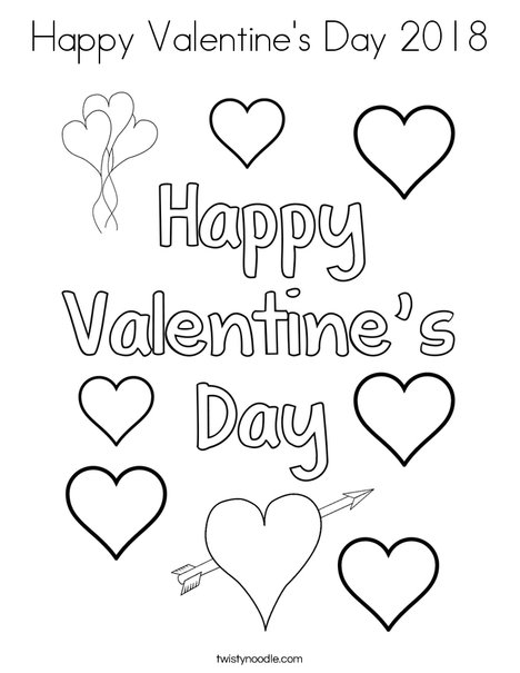 468x605 happy valentine39s day 2018 coloring page