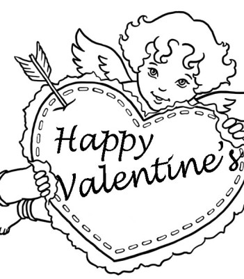 351x401 Tinker Bell Happy Valentines Day Images Coloring Pages