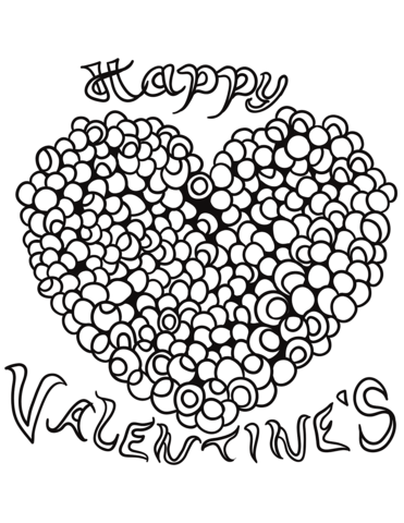 371x480 Happy Valentine's Heart Coloring Page Free Printable Coloring Pages