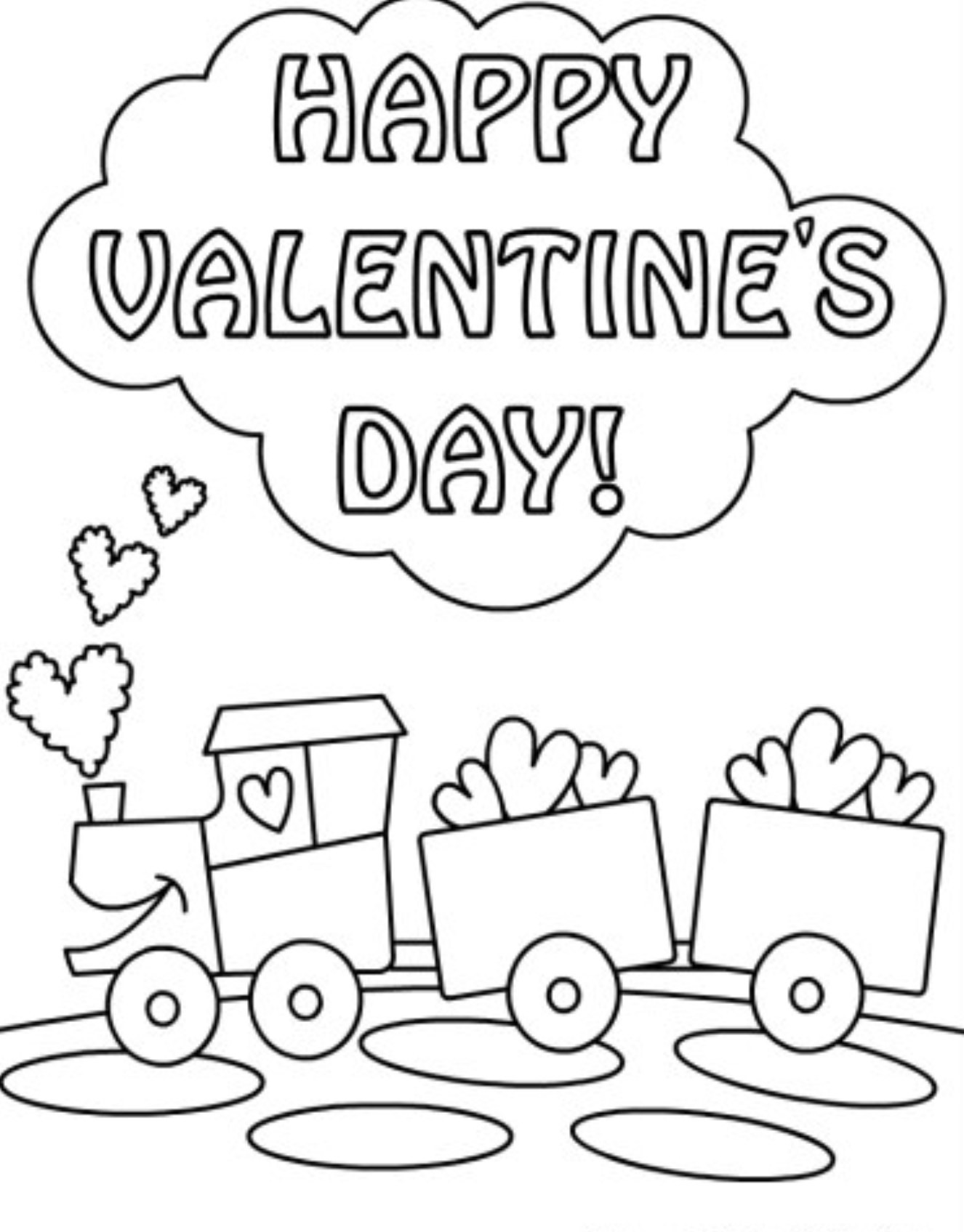 1326x1696 Happy Valentines Day Coloring Pages