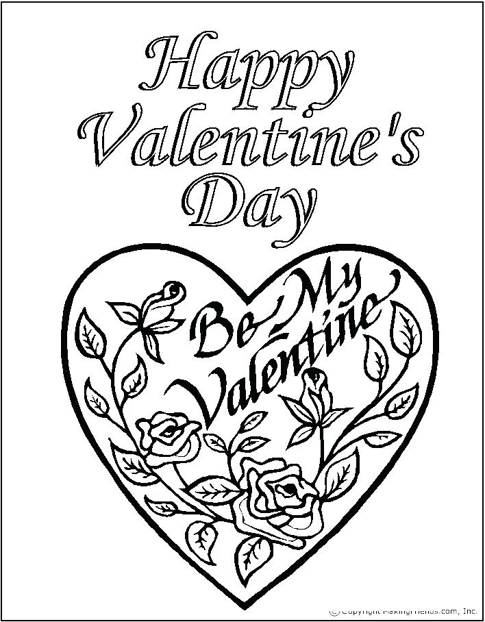 708x908 Happy Valentines Day Coloring Sheets Easy Free Happy Valentines