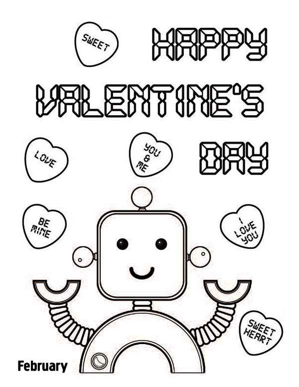 600x776 Happy Valentines Day Pictures To Color Valentine's Day Info
