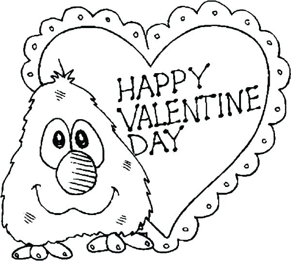 600x539 Valentines Day Coloring Books Together With Color Pages Valentines