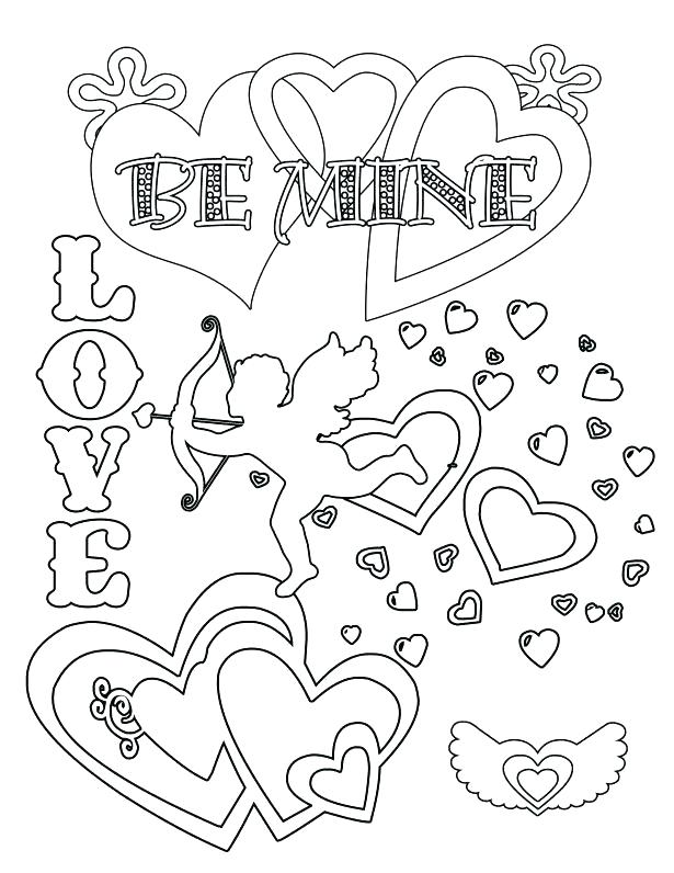 615x796 Valentines Day Hearts Coloring Pages Coloring Pages For Adults
