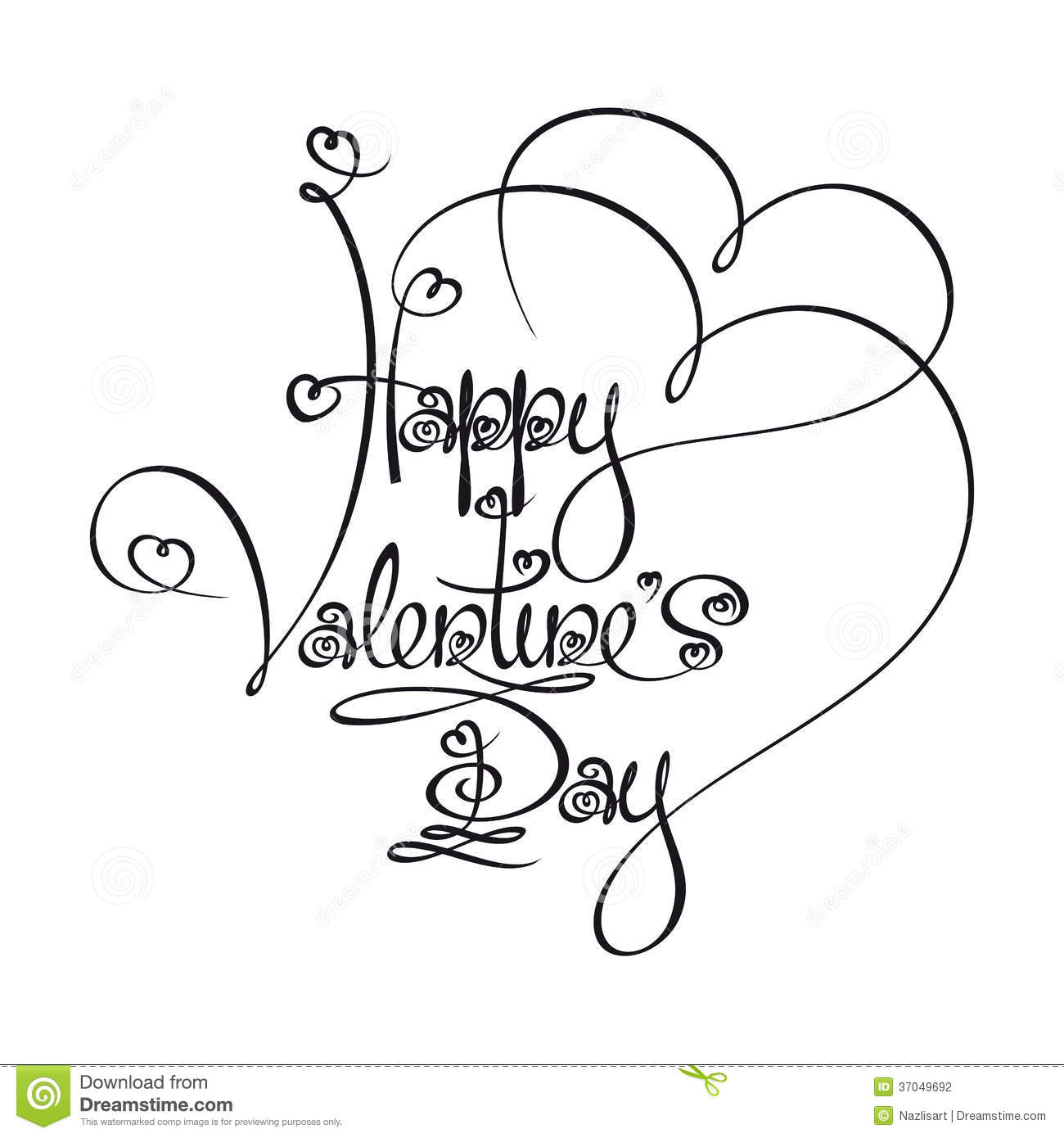 1300x1390 Happy Valentines Day Pictures In Black And White Caligraphic Text