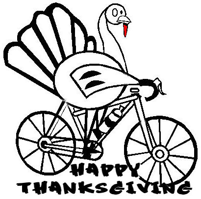 410x406 Happy Thanksgiving Coasters Bicycle Club