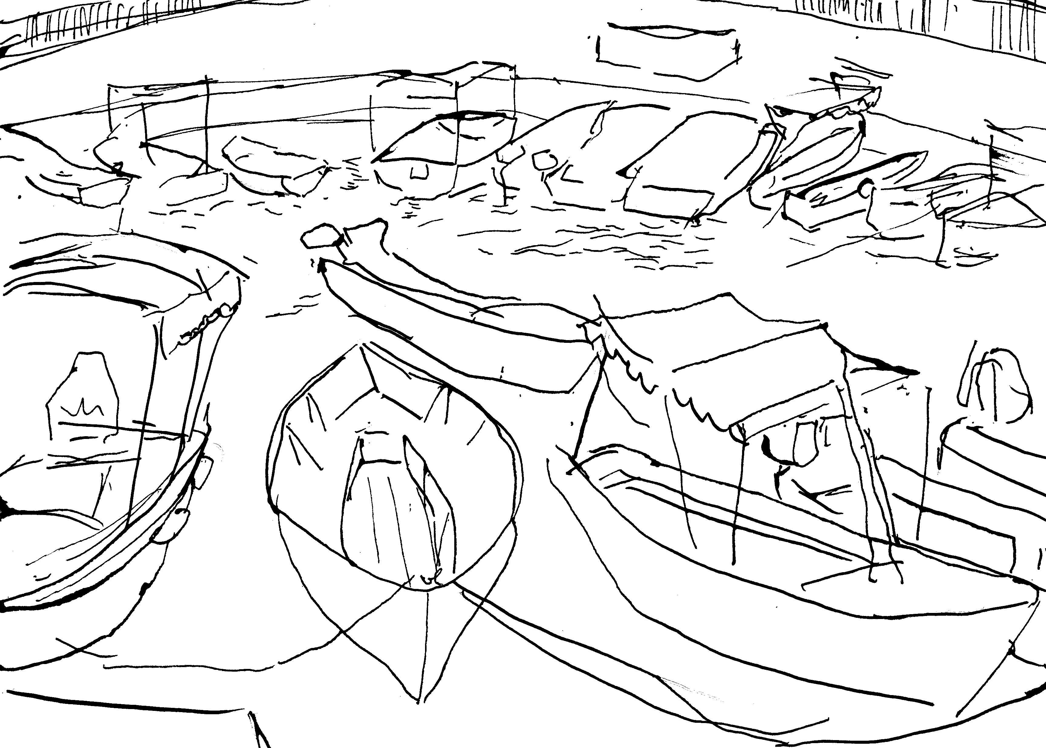 3438x2459 Harbor In Ulcinj Drawings Drawings
