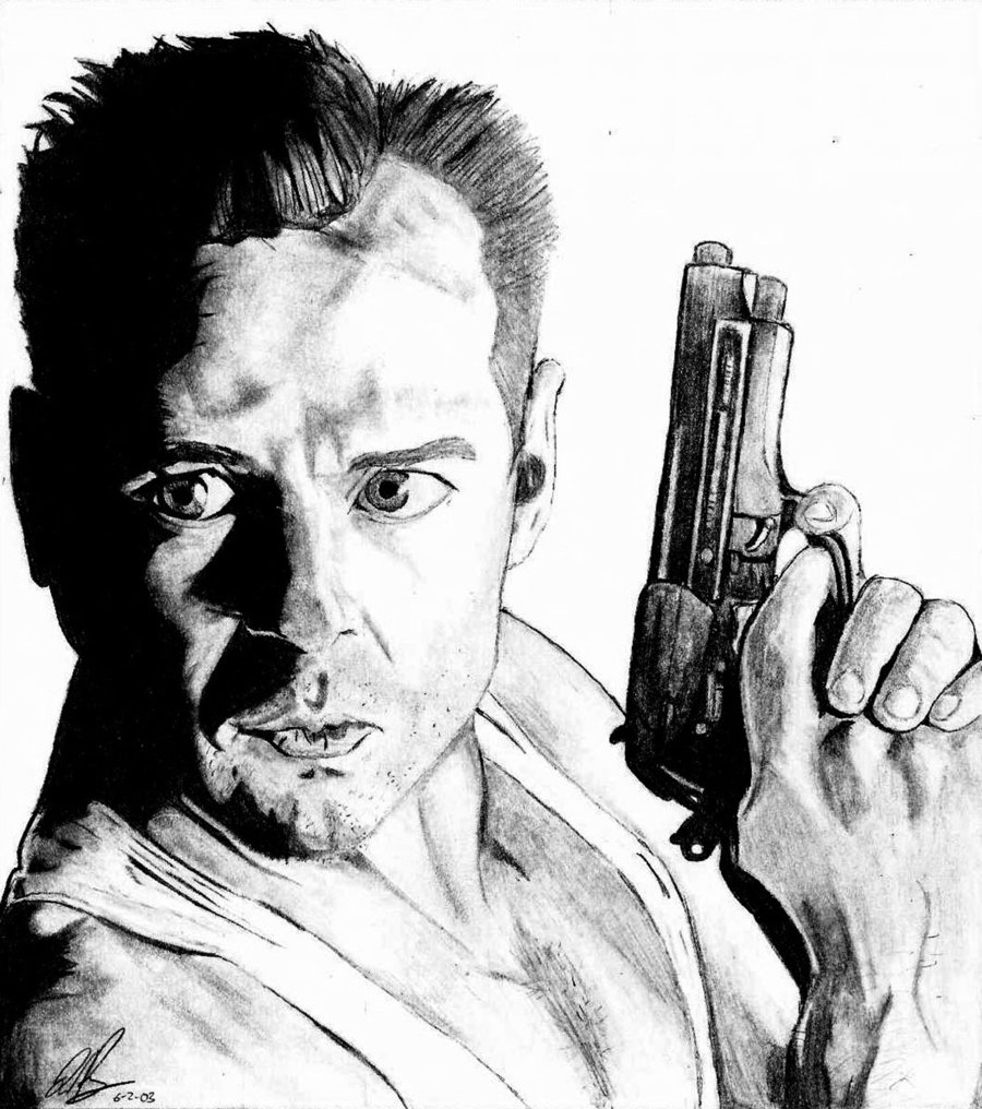 900x1016 Die Hard By Art Kyd