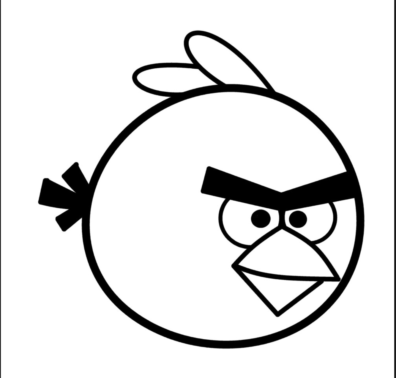 1333x1272 Angry Bird Break It Down It Will Not Be Hard Drawing