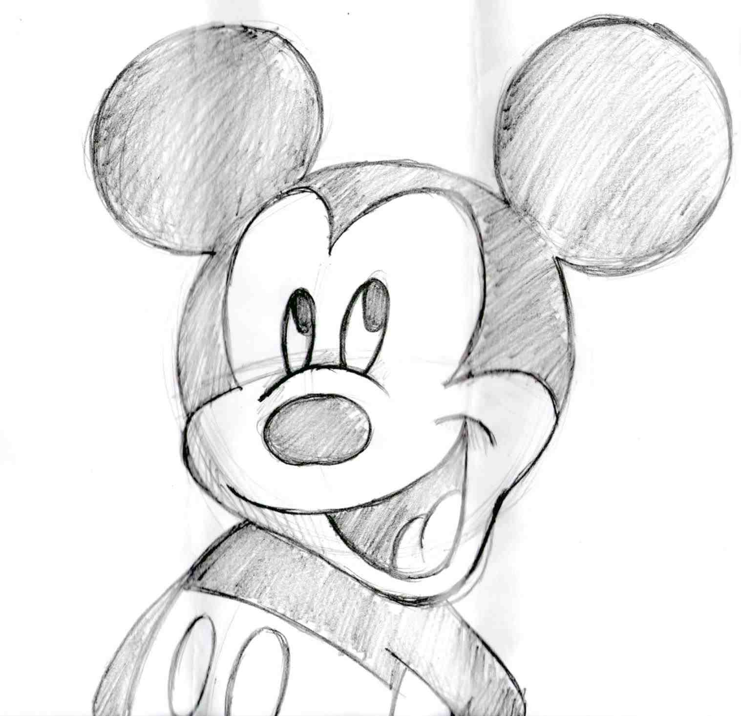 1517x1466 The Images Collection Of Mouse Sketch By How To Step Faces Free