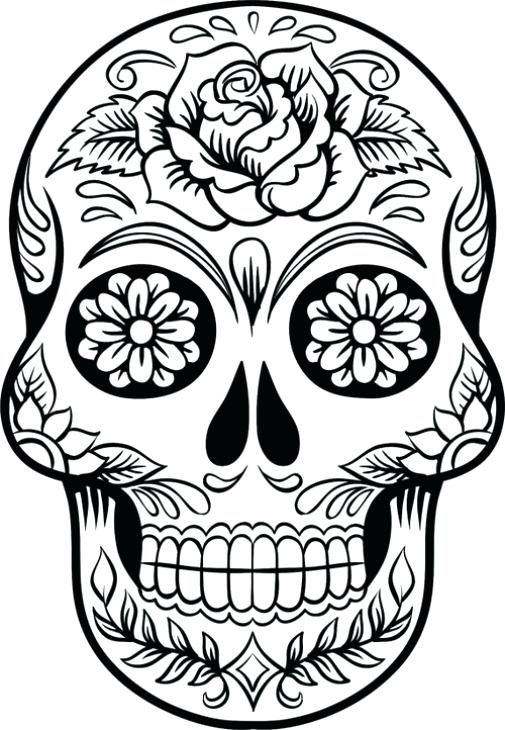 505x730 Astonishing Appealing Free Printable Skull Coloring Pages Print