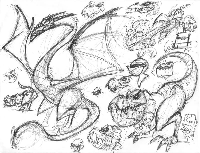 798x613 Sketch Blog Dragon Sketches