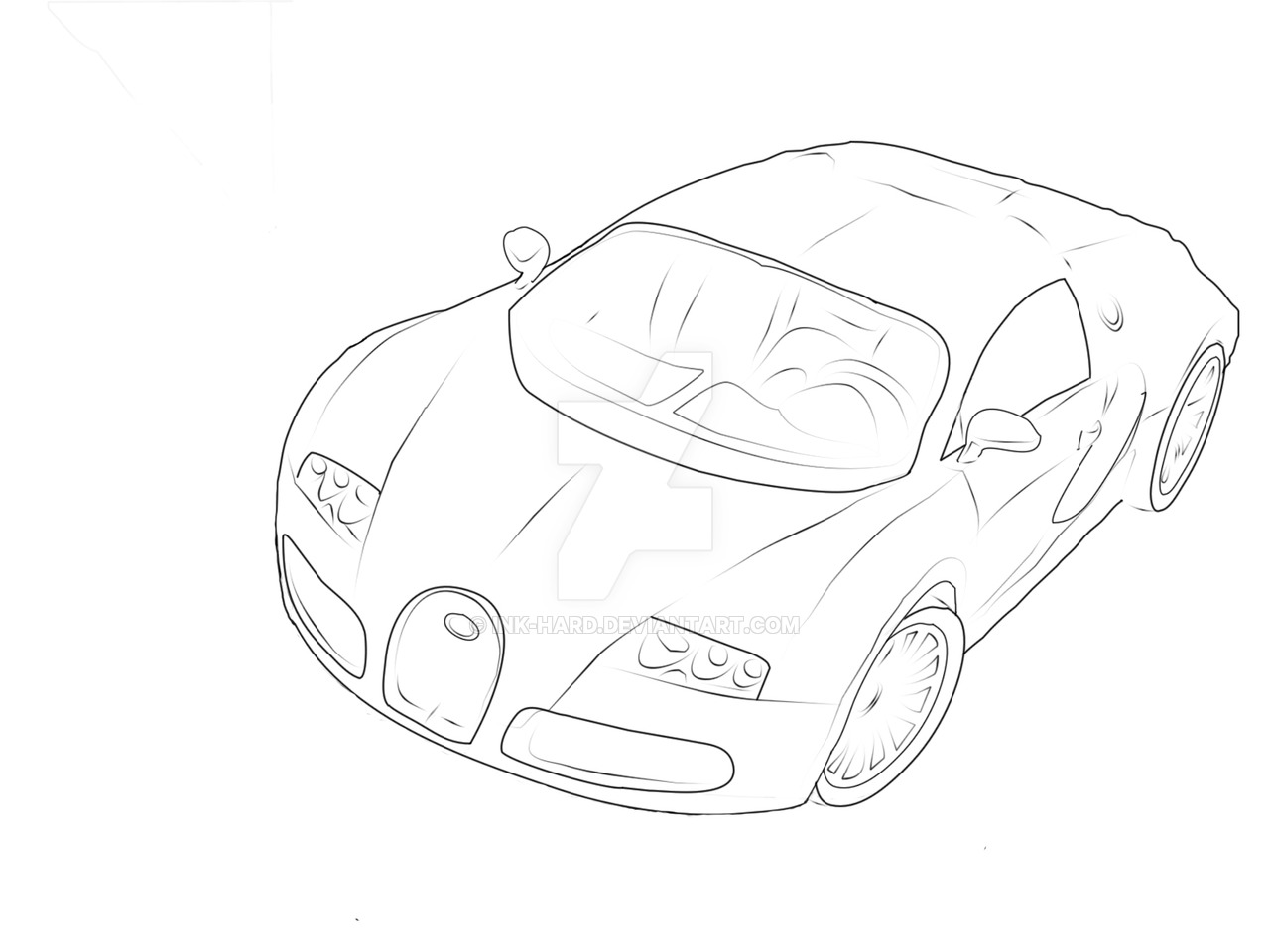 1280x960 Bugatti Drawing P1 By Ink Hard