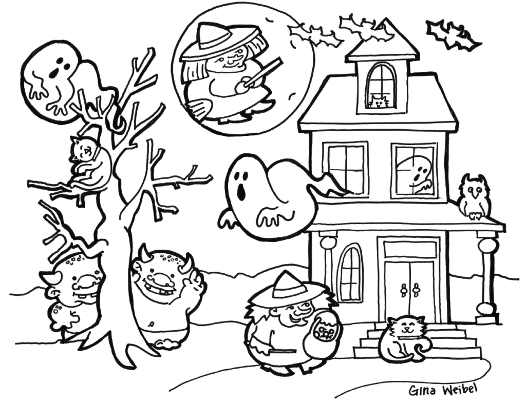 1024x790 Affordable Halloween Coloring Page Hard Halloween Coloring Pages