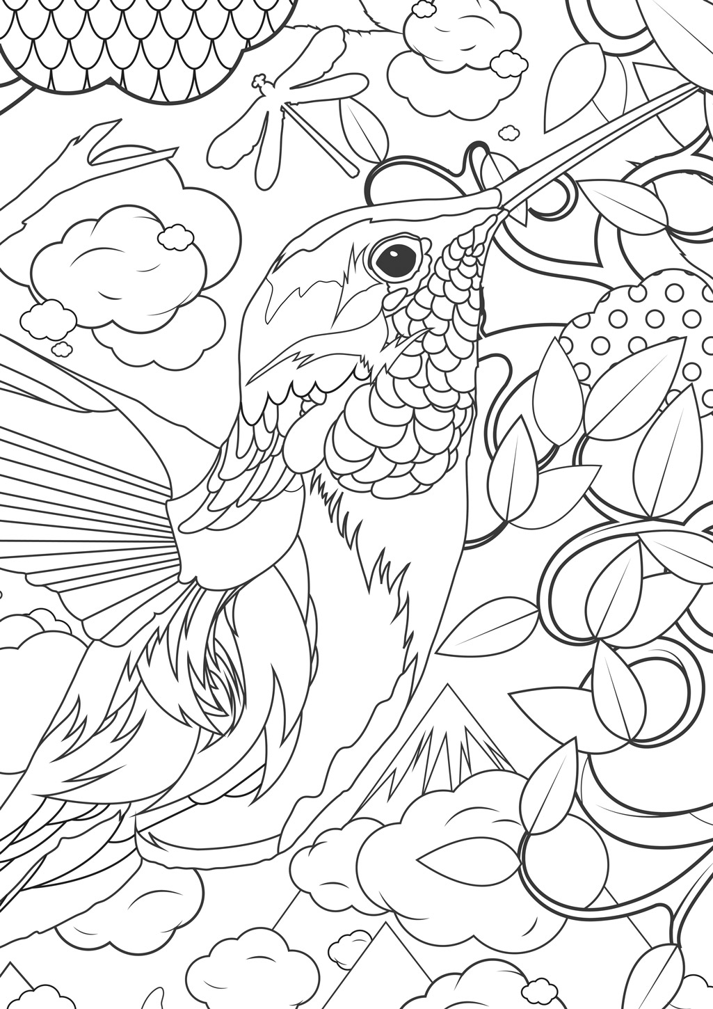 Flower difficult - Flowers Adult Coloring Pages | 1450x1025