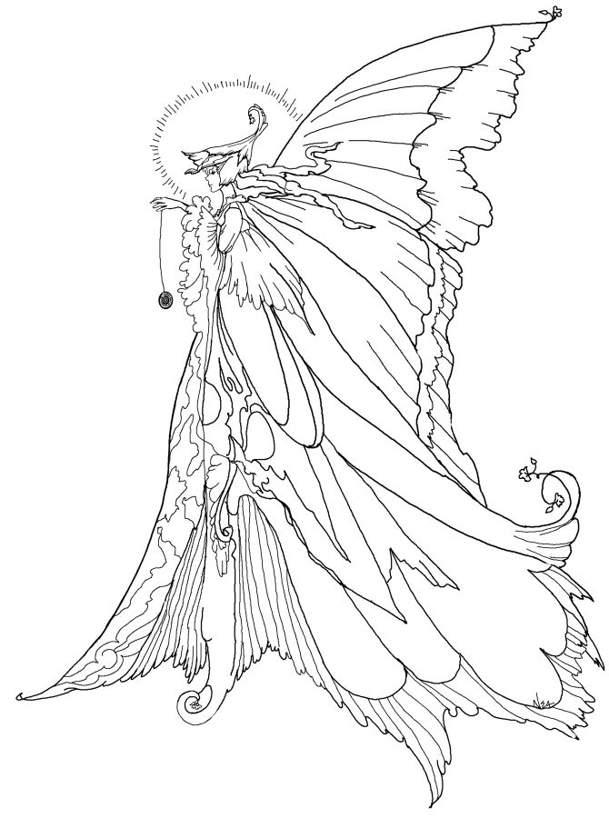 670x900 Coloring Pages For Girls Hard Fairy Colouring Sweet Draw