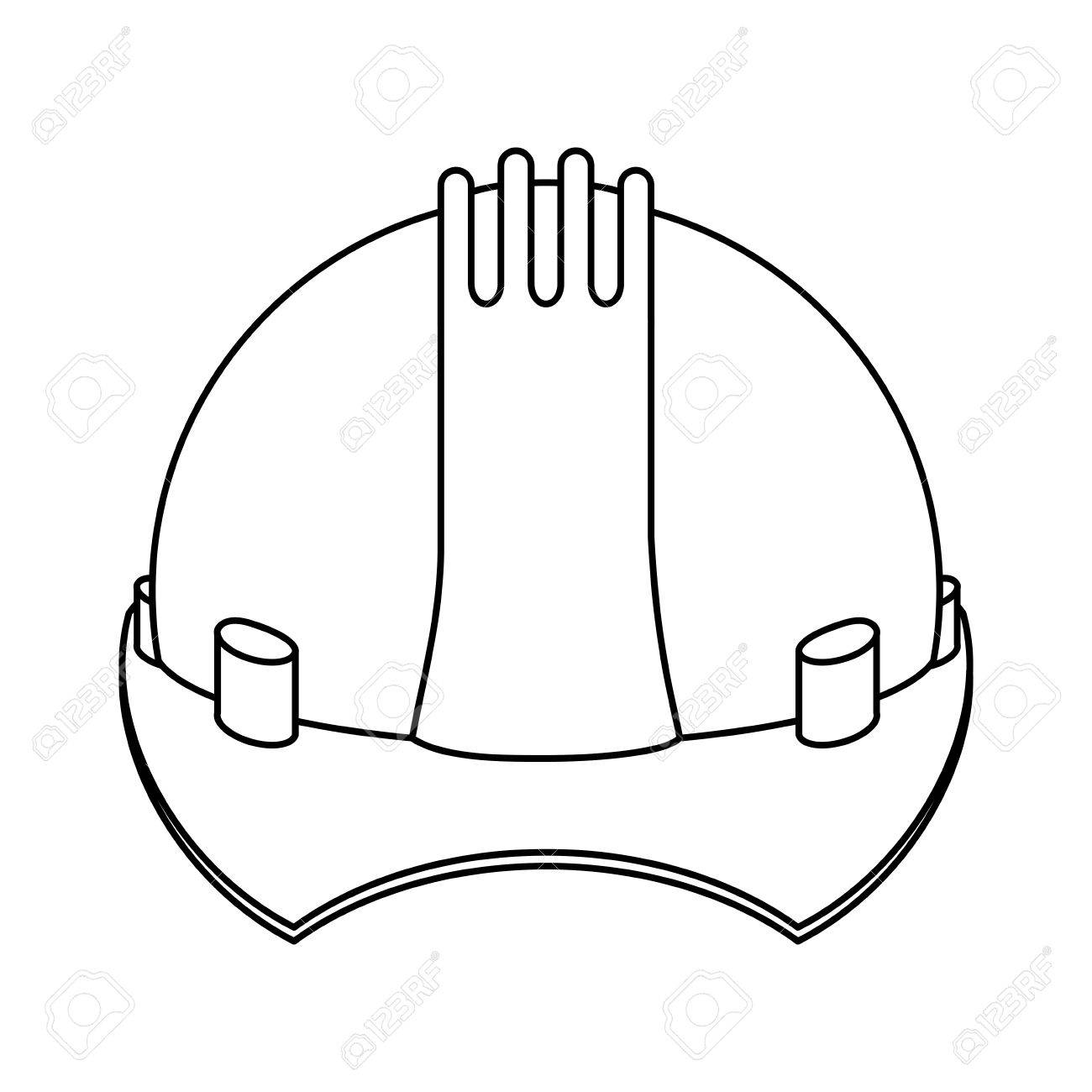 1300x1300 Silhouette Construction Safety Helmet Icon Vector Illustration