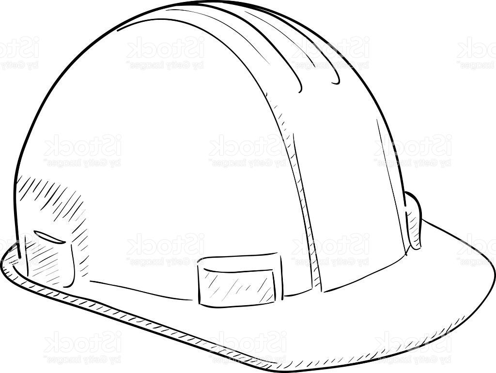 1024x770 Best Free Construction Hat Clip Art Black And White Image