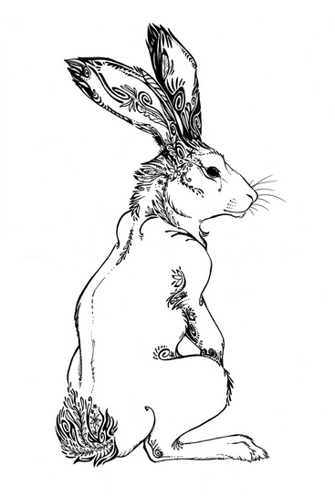 367x544 Sitting Hare Galleryfab
