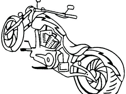 440x330 Harley Davidson Coloring Book Plus Motorcycles Drawings The My