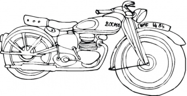 600x311 Harley Davidson Coloring Page Free Images