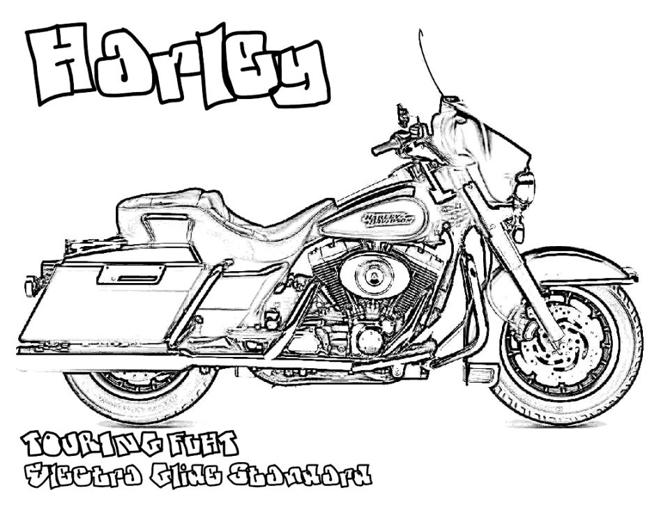 948x733 Harley Davidson Coloring Pages With Wallpapers Android