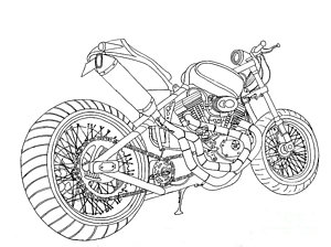 300x224 Harley Davidson Drawings