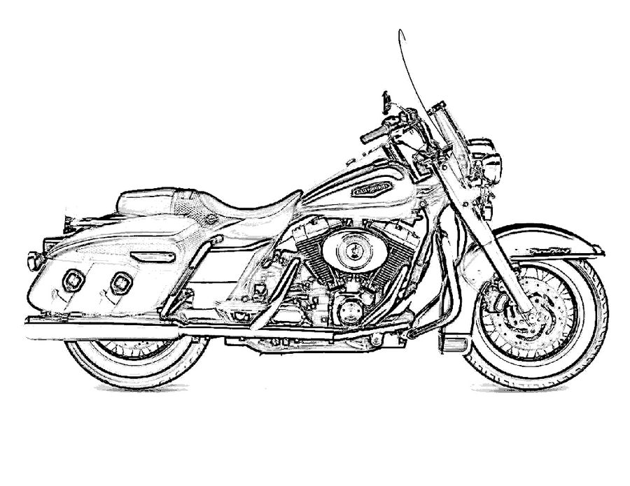 900x695 Coloring Pages Harley Davidson, Printable For Kids Amp Adults, Free