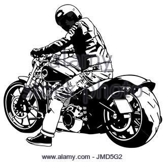 327x320 Harley Davidson And Rider Stock Vector Art Amp Illustration, Vector