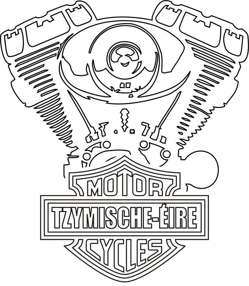 833x959 Harley Davidson Engine By Slavnymir