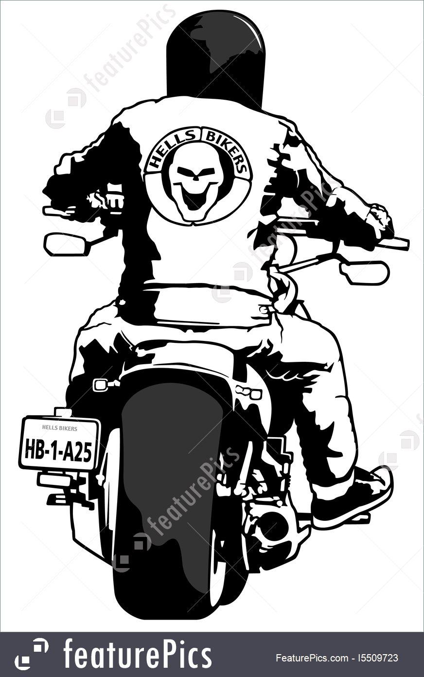 872x1392 Illustration Of Harley Davidson And Rider