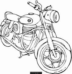 236x243 Harley Davidson Coloring Pages To Print Harley Davidson Color