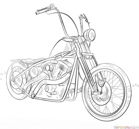 474x440 how to draw a motorcycle step by step motorcycles