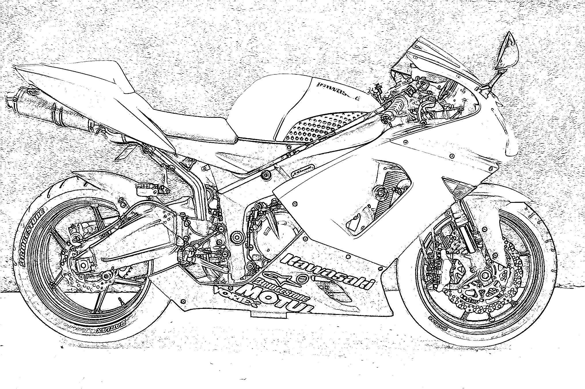 2032x1354 Outline Sketch Of An 0506 Zx6