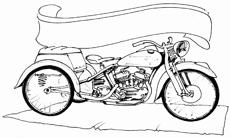 harley davidson drawing outline at getdrawings com