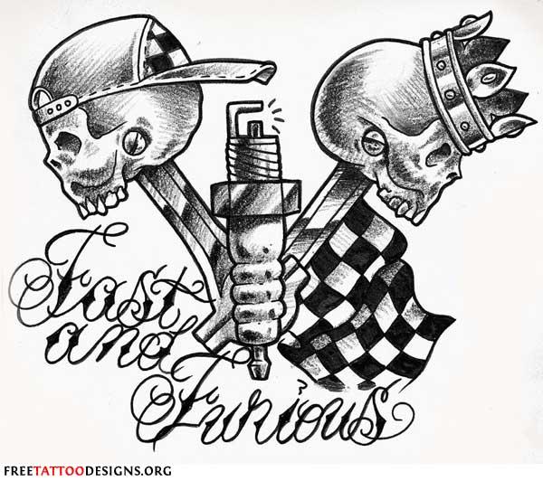 600x532 Biker Tattoo Fast And Furious Tattoo Ideas Biker