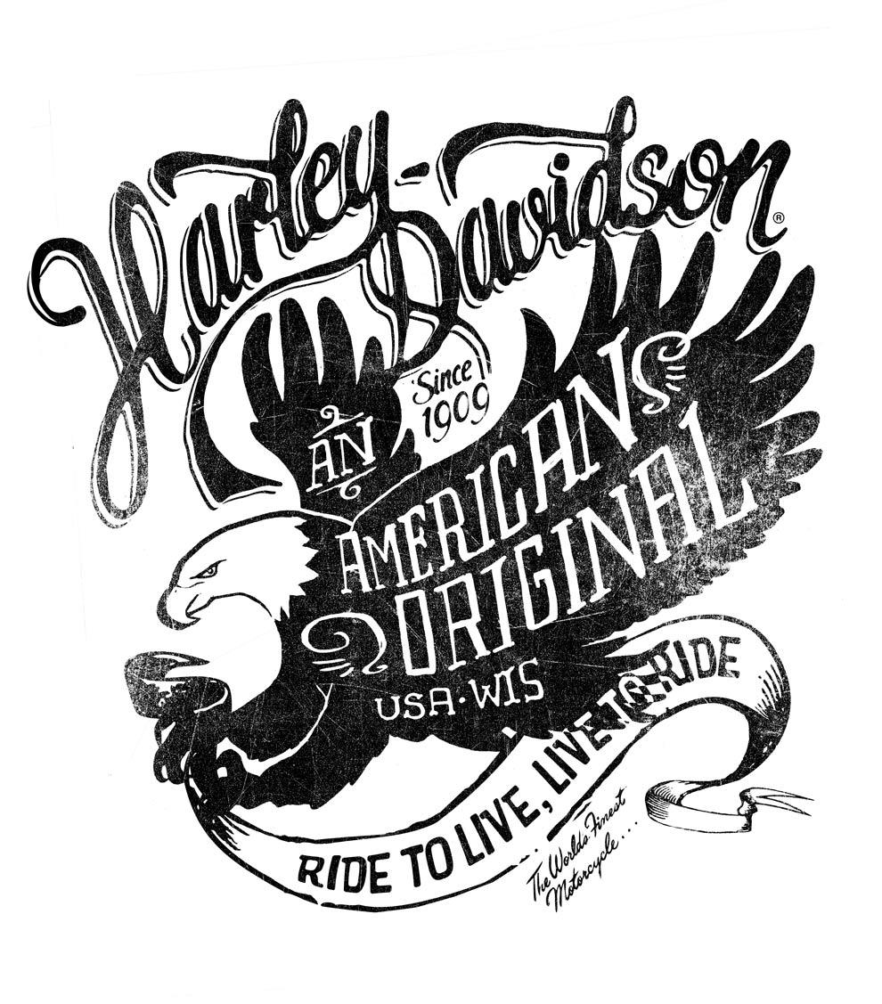 990x1127 Harley Davidson Tee Iilustrationsalex Ramon Mas Studio