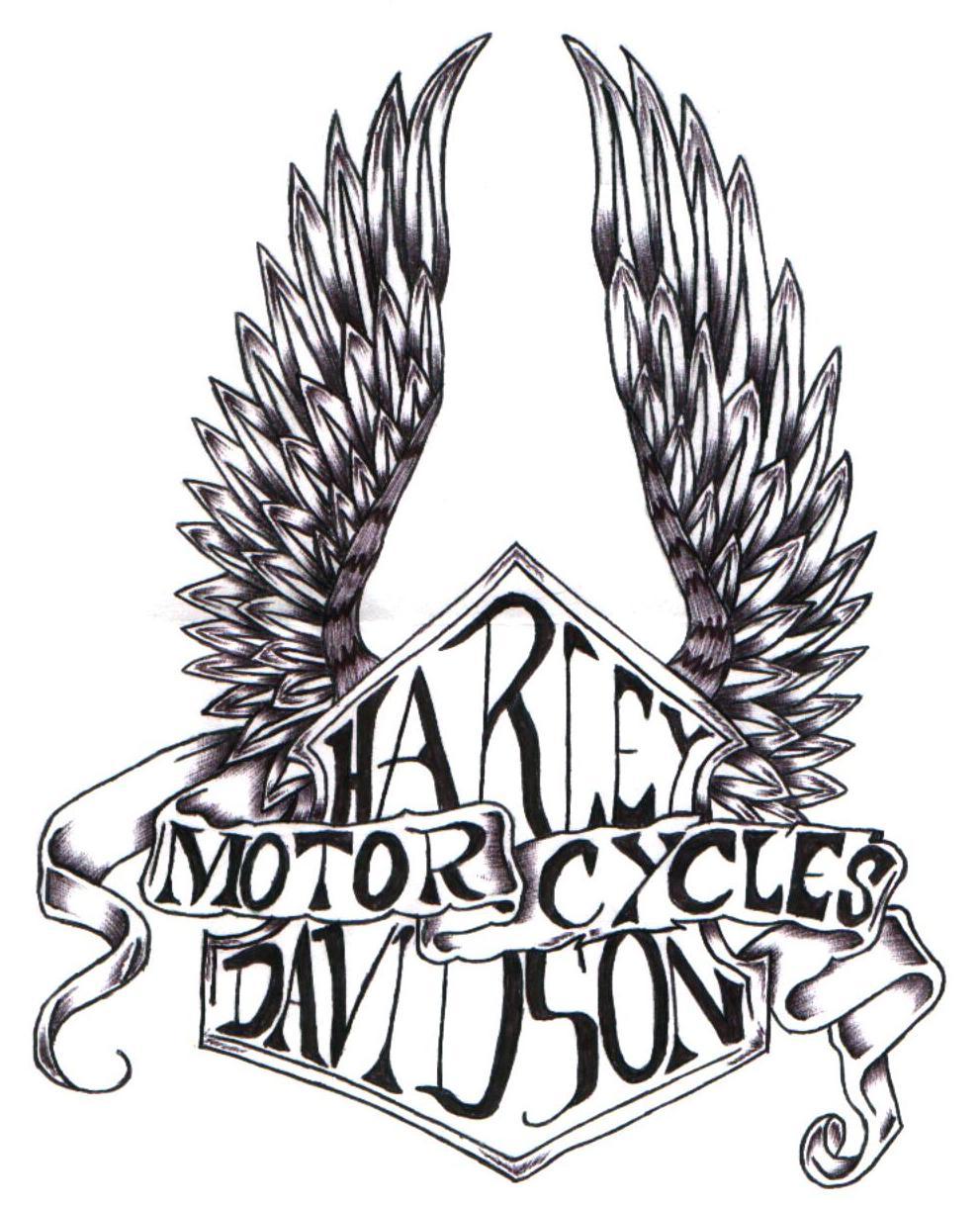 harley davidson logo drawing at getdrawings com