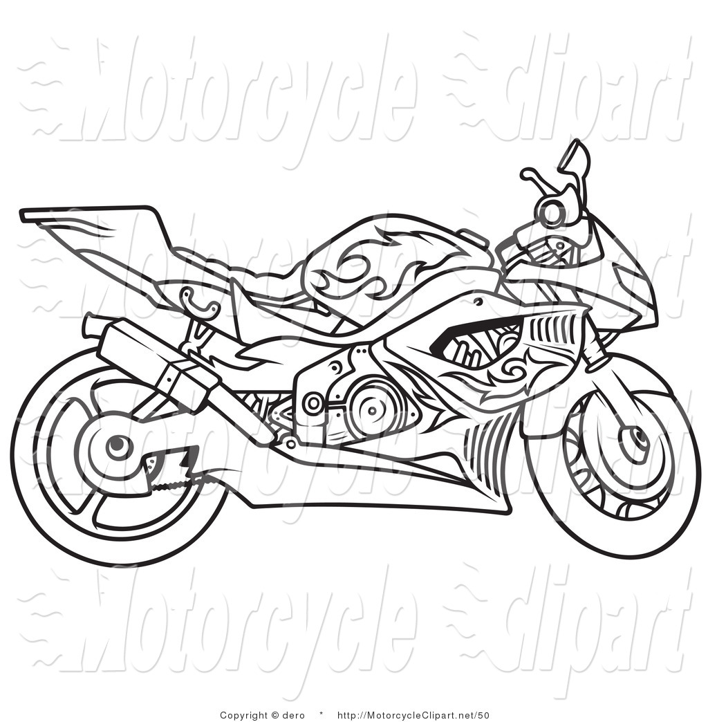 1024x1044 Motorcycle Drawings Clipart