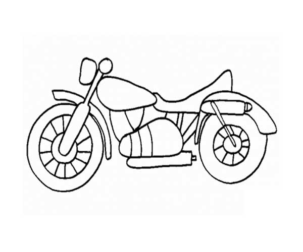 600x500 Printable Motorcycle Coloring Pages For Preschoolers