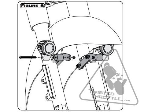 471x368 Denali Auxiliary Light Mount For Select Harley Davidson