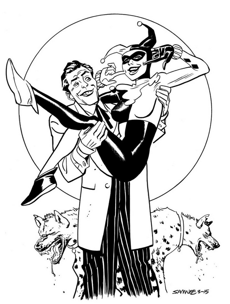 760x1003 Joker And Harley Quinn Coloring Pages Preschool To Pretty Draw